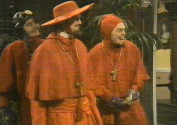 The Spanish Inquisition: From left to rigth: Jr. Cardinal Biggles, Cardinal Ximinez of Spain, Jr. Cardinal Fang.